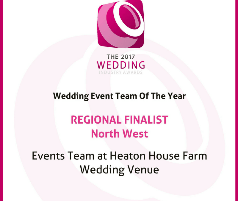 Heaton House Farm have been shortlisted for The Wedding Industry Awards 2017