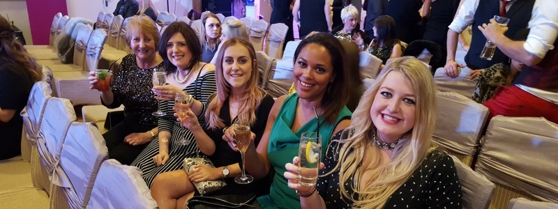 Heaton House Farm raise a glass at The Wedding Industry Awards 2017