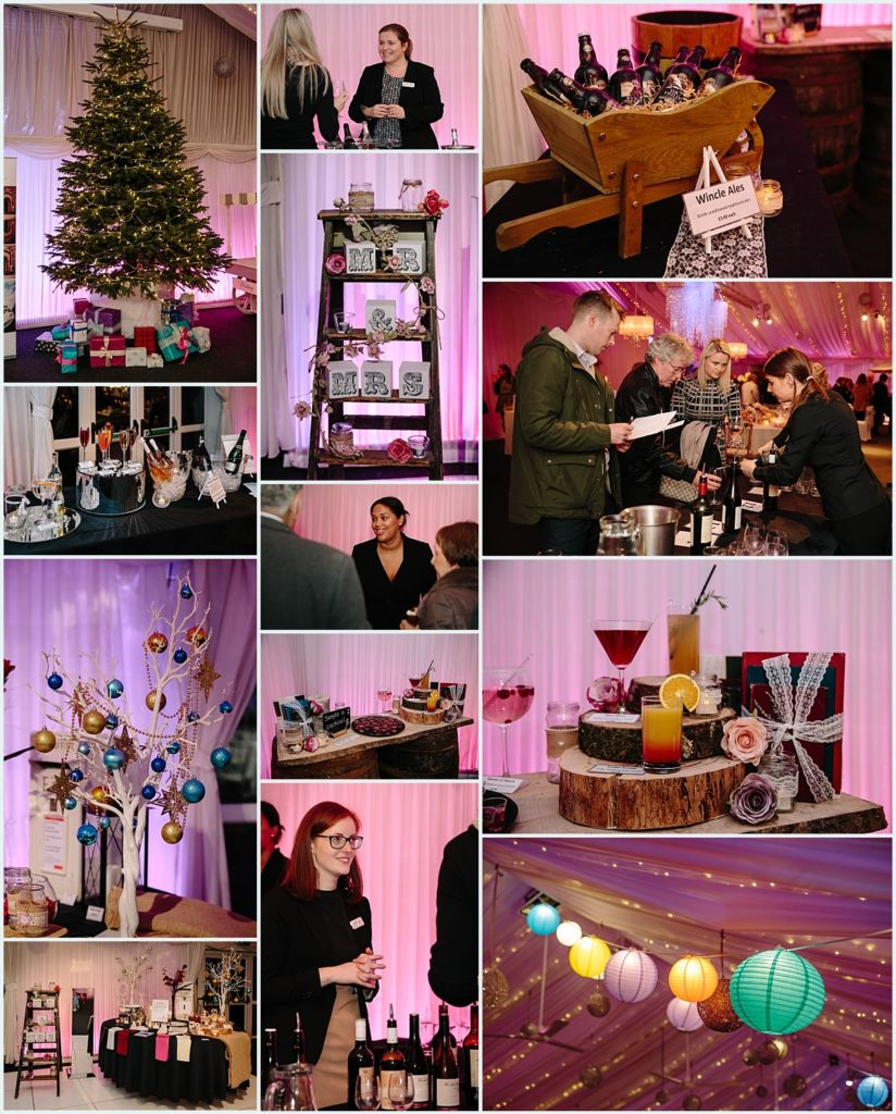 Heaton House Farm Experience Evening - November 2016 - Christmas Wedding (10) items for hire - wine tasting - reception drinks - wedding drinks