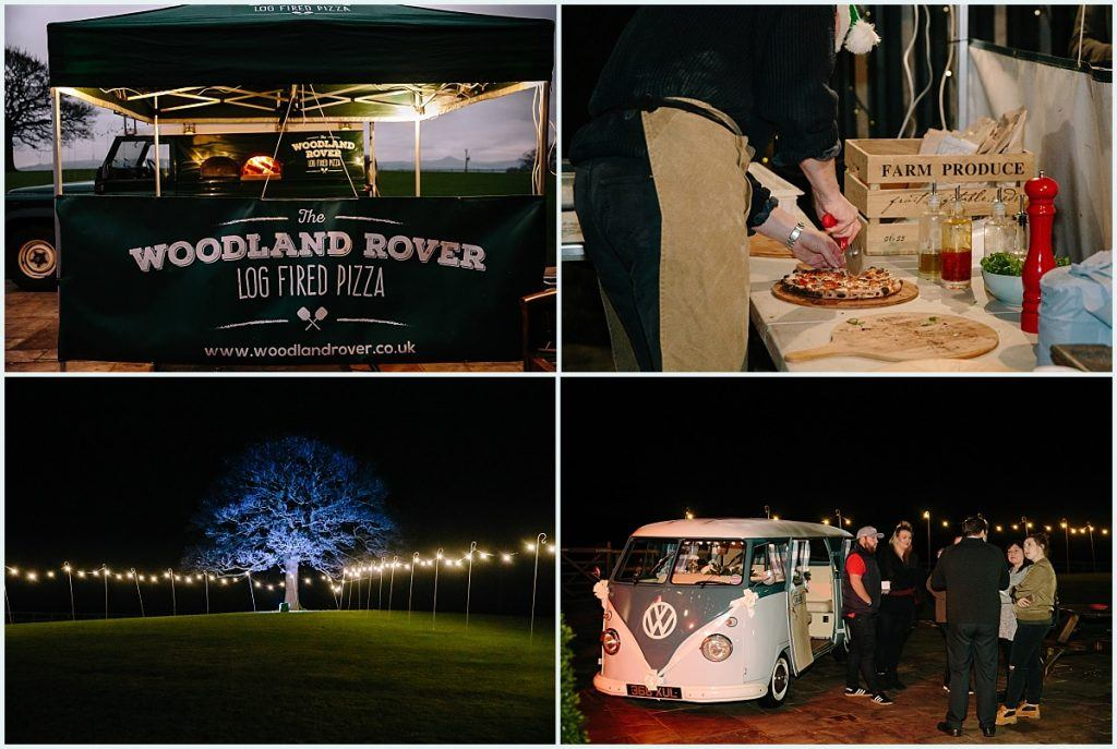 Heaton House Farm Experience Evening - November 2016 - Christmas Wedding (4) Wedding food - outside catering - pizza - VW campervan - campervan hire