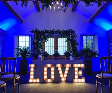Inside Heaton House Farm wedding venue in Cheshire