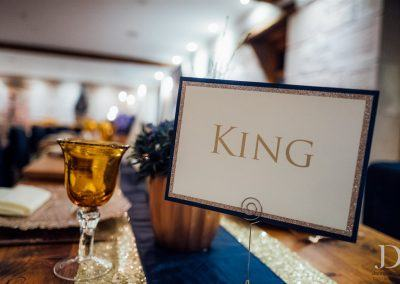 King Table Blue decor