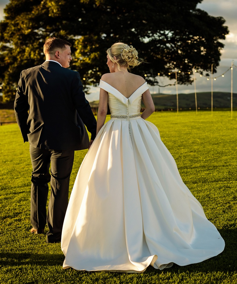 Outdoor farm wedding in the North West