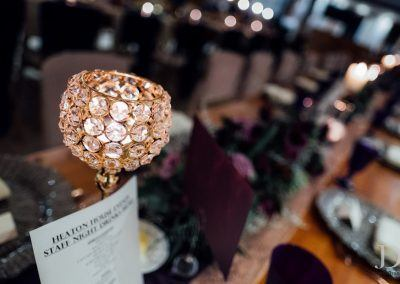 glitzy table decoration