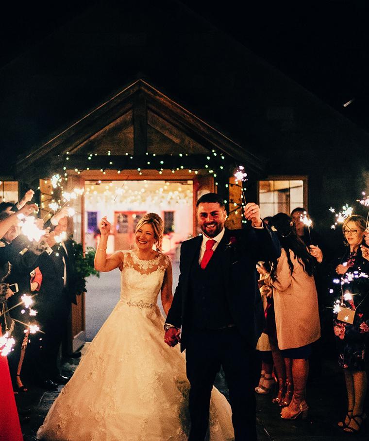 Nighttime farm weddings in Cheshire