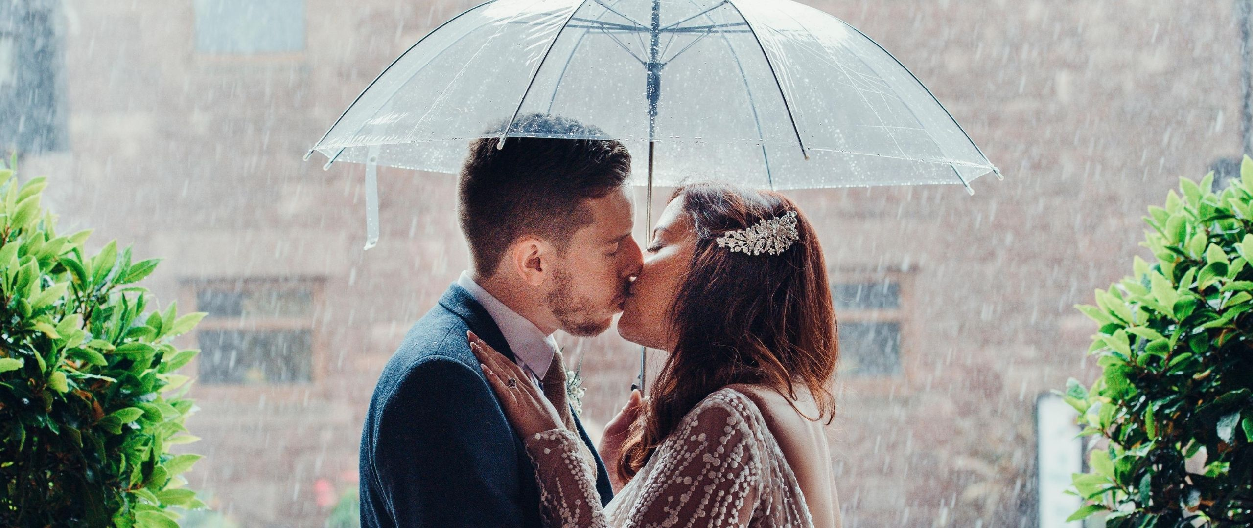 Even heavy rain couldn't stop Rachael and Lee having a perfect day!